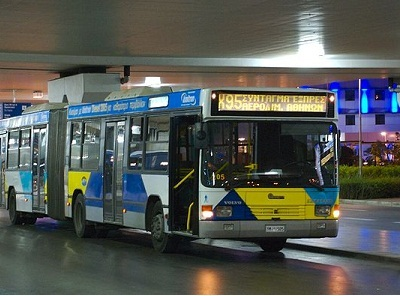 Athens airport bus (photo)