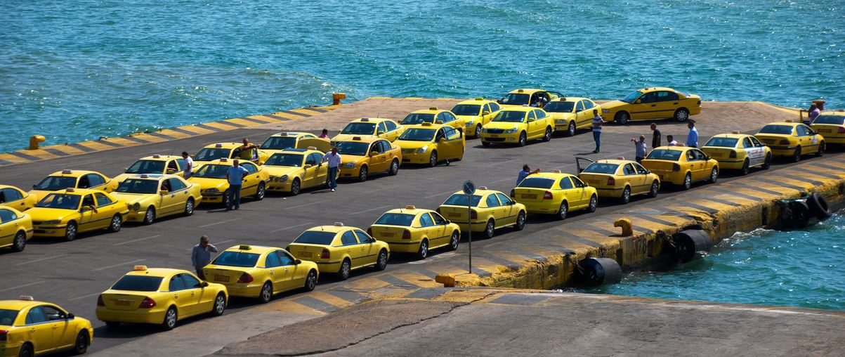 Piraeus Port Athens airport taxi